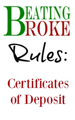Rules: Certificate of Deposit
