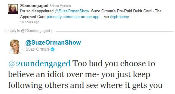 Suze Orman Calls PT Money an Idiot