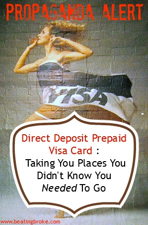 Visa Direct Deposit Prepaid Card