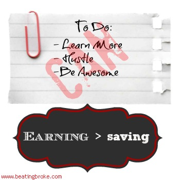 Earning > Saving