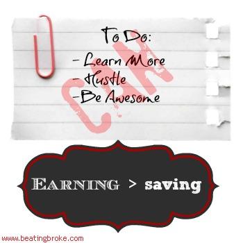 Earning > Saving