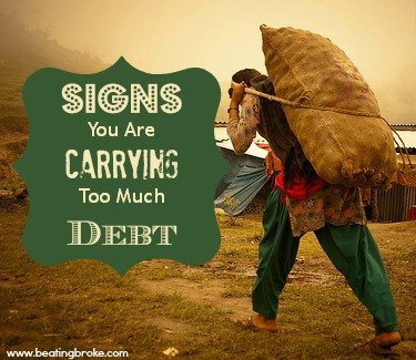 Carrying too much debt