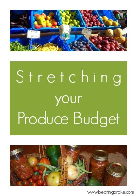 Stretching your produce budget