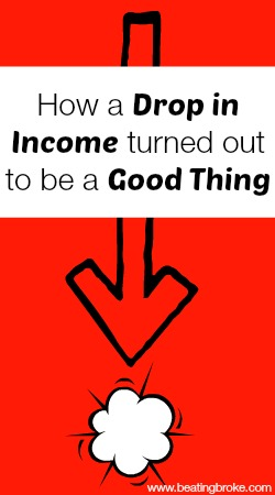 drop in income a good thing