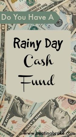 Rainy Day Cash Fund