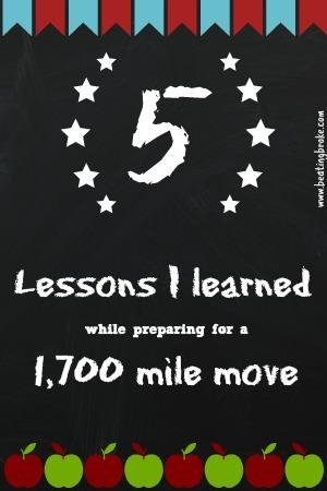 1700 mile move