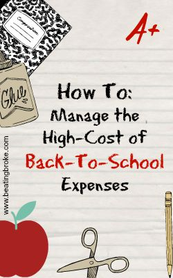 manage back to school expenses
