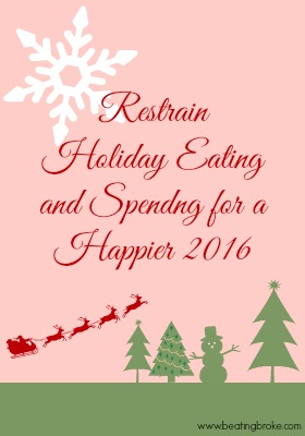 Restrain Holiday spending and eating