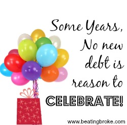 No new debt celebrate