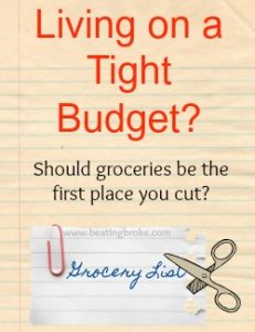 Should you Cut groceries first?