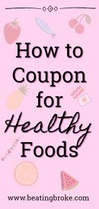 Coupon for Healthy Foods