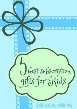 best subscription gifts for kids