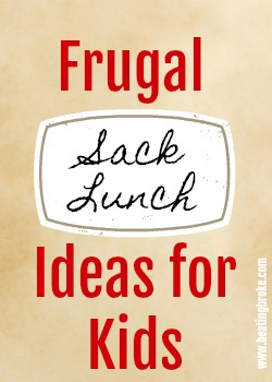 Frugal sack lunches