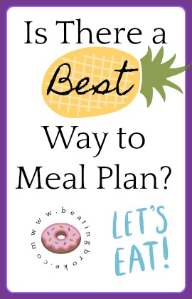 Best Way to Meal Plan