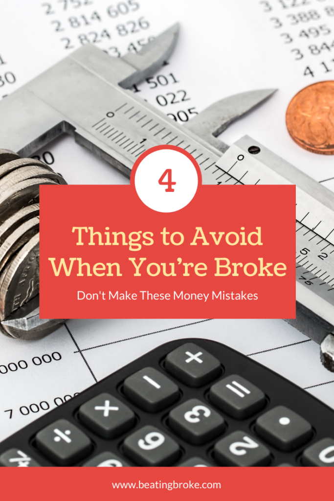 Things to Avoid When You're Broke