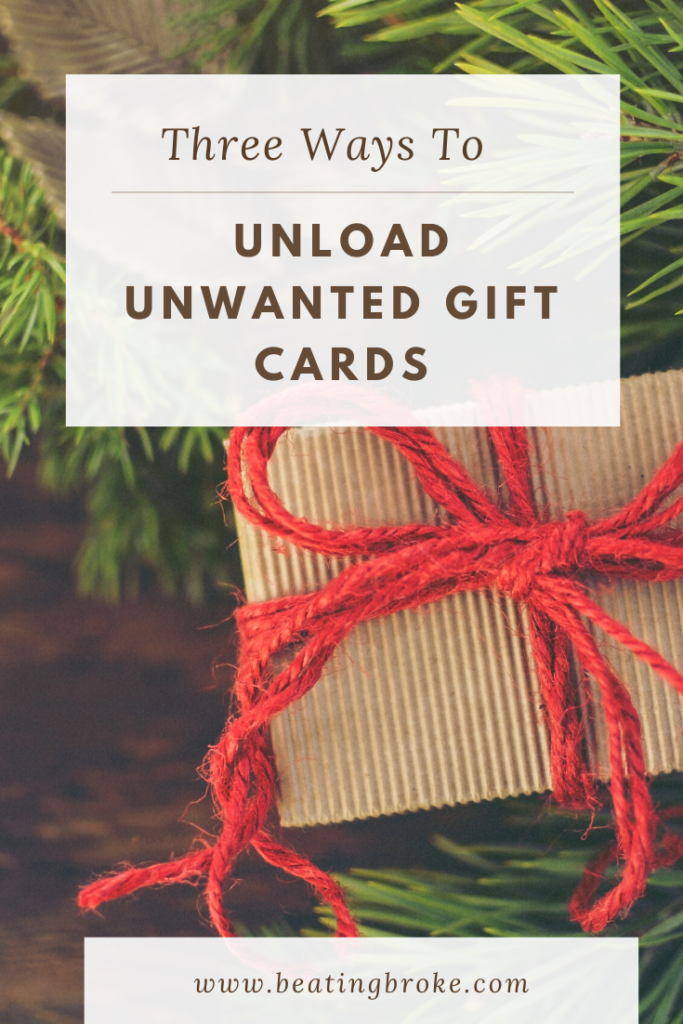Three Ways to Unload Unwanted Gift Cards