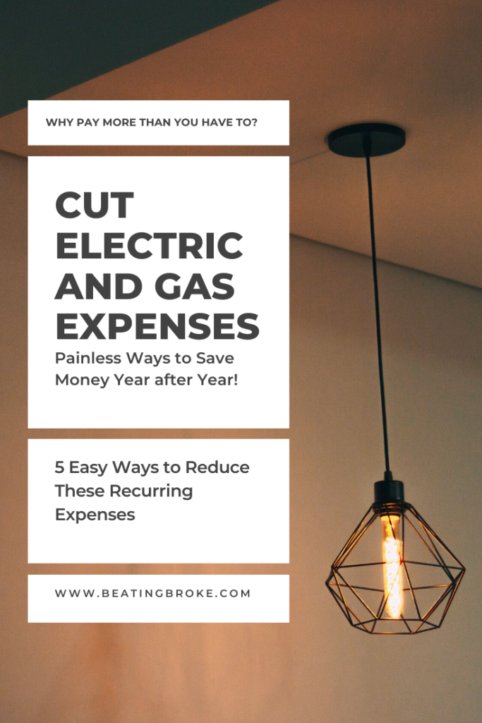 5 Easy Ways to Save on Electric and Gas Expenses