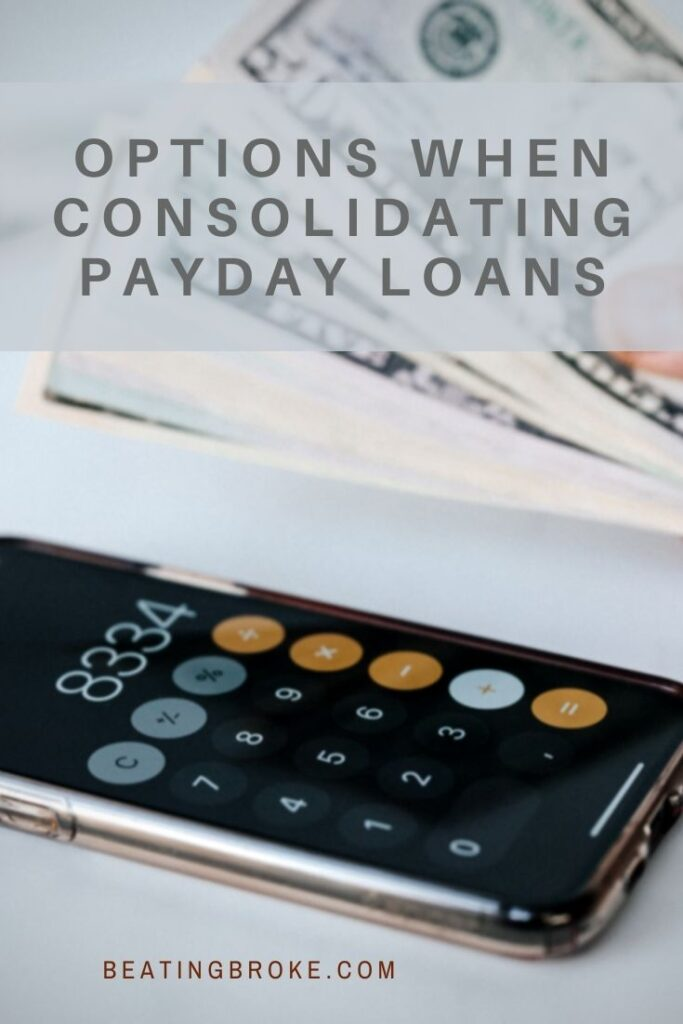 Payday Loans Consolidation Options